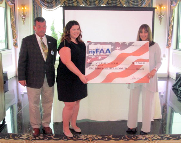NYFAA Donation Check Fire Museum