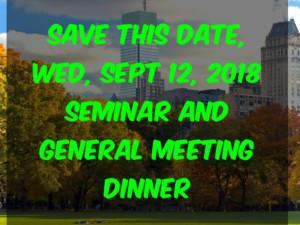 Seminar and General Meeting